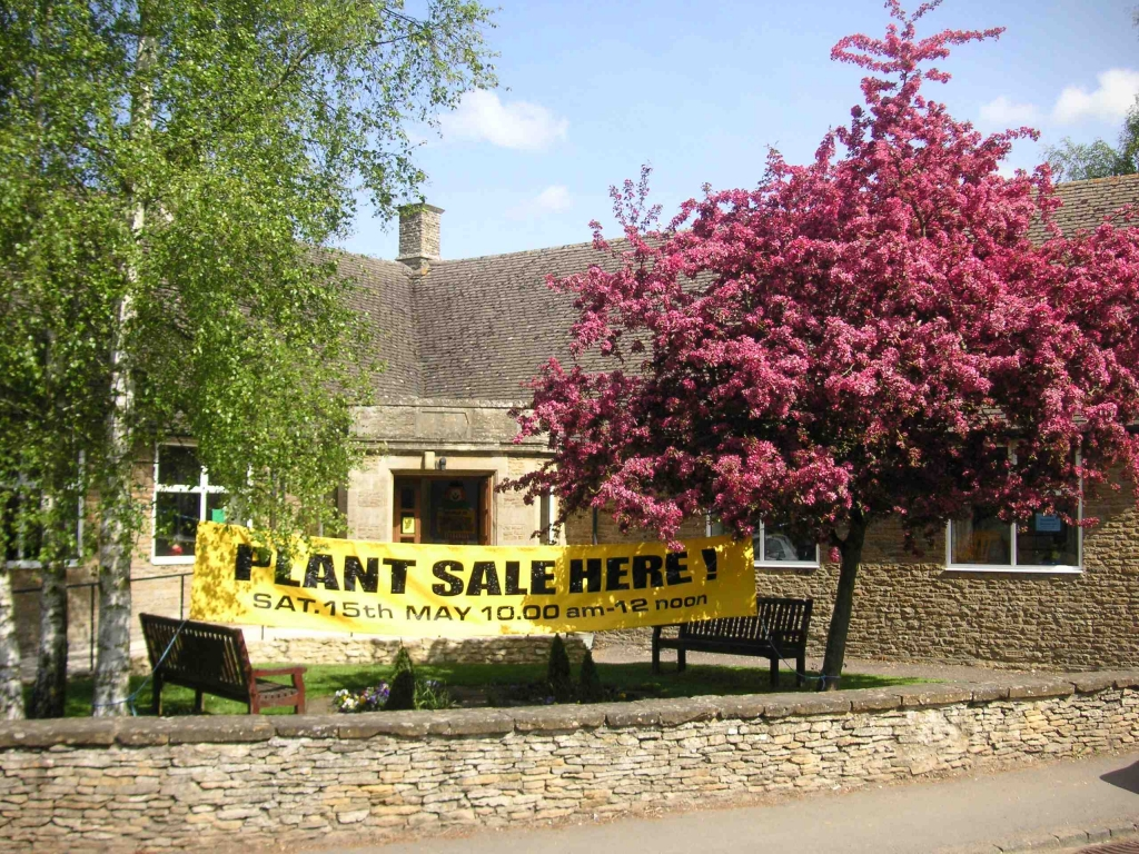 plant sale at Charlton Memorial Hall